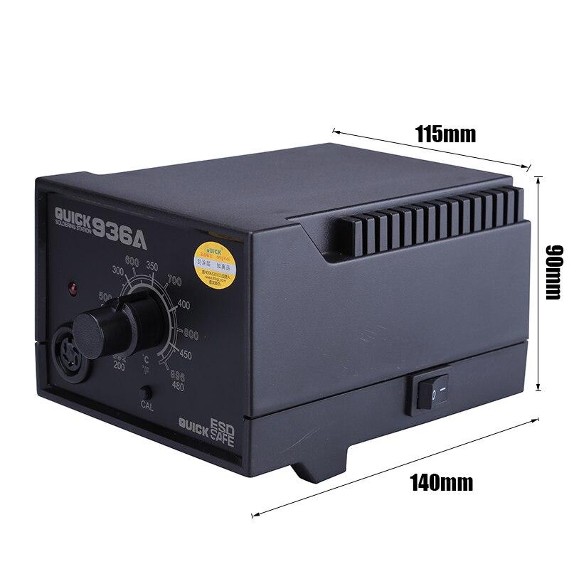 Tools : QUICK 936A 110V 220V Constant Temperature Antistatic 60w Soldering Station Solder Iron SMD Rework Station