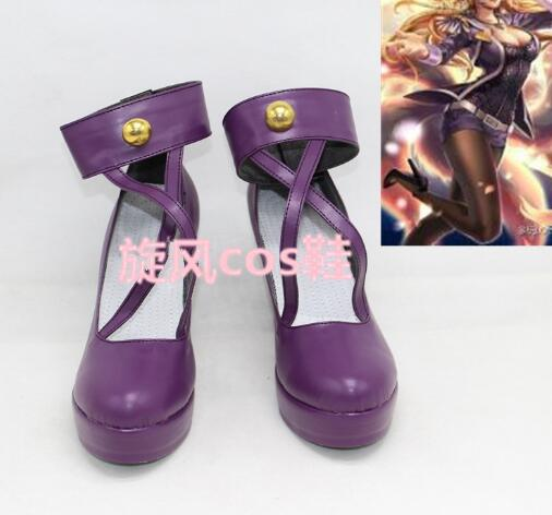 Customize Boots LOL Cosplay Popstar Ahri Cosplay Boots Cosplay Costume Anime Party Shoes