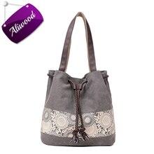 Canvas Shopping Handbag