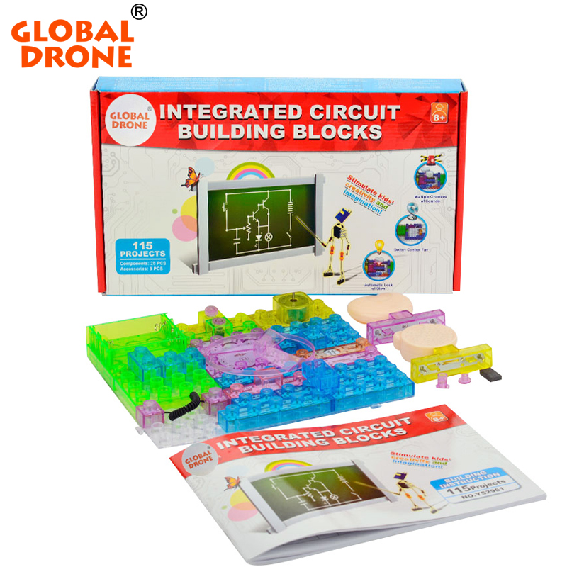 115 projects snap circuits smart electronic kit integrated circuit building blocks experiments educational fun font b