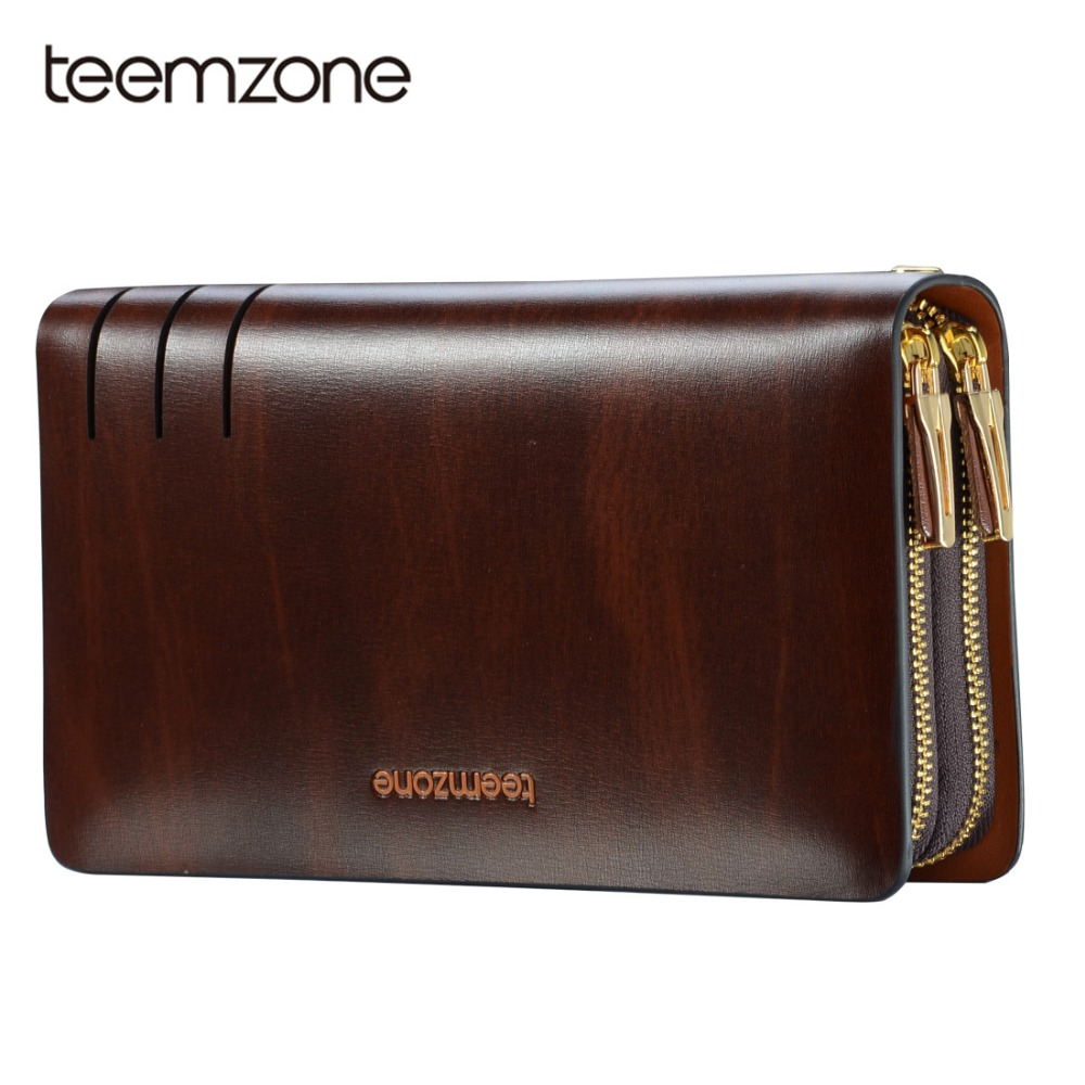 Teemzone 2018 Luxury Male Leather Purse Men's Clutch Wallets Handy Bags Business Carteras Mujer Wallets Men Dollar Price S3316 luxury genuine leather purse women s clutch wallets handy business carteras mujer wallets women dollar price moda delgada