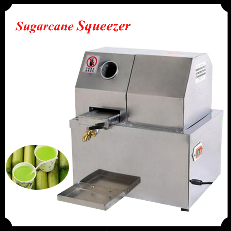 Electric Sugarcane Juicer Stainless Steel Desktop Sugarcane Juice Machine Cane-Juice Squeezer Cane Crusher Sugar Juicer SXC-80DC все цены