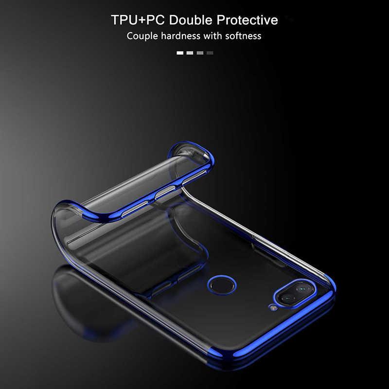 الفاخرة شفافة واقي صدمات لعلبة الهاتف غطاء سيليكون على ل شياو mi mi 8 لايت mi 8 mi 8 لايت 8 لايت 4/6 64/128 GB Xio mi ضوء