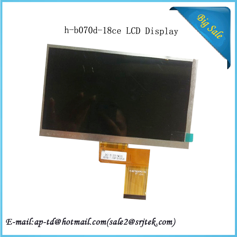 7 inch LCD Display H-B07021FPC-72 H-B070D-18CE LCD Screen Moniter For Tablet PC Module Panel