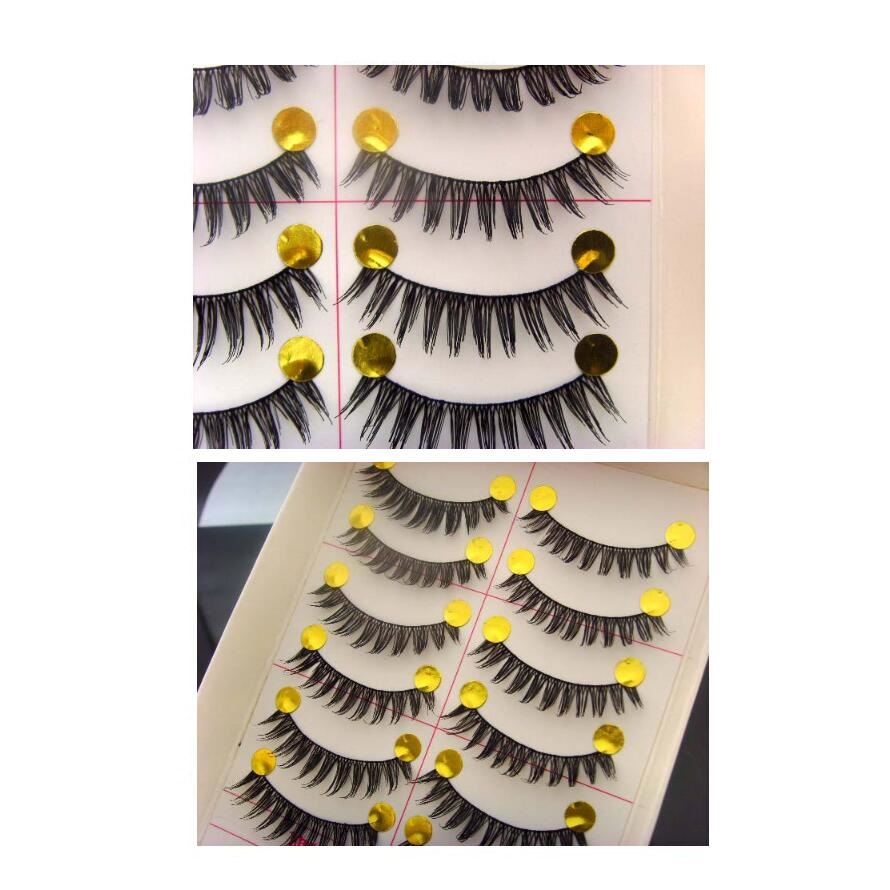 Accessorize your eye Get Beautiful Lush Lashes Change Your Look in a Snap Natural Eye Lashes Black Cotton Stalk Easy Use 10pair