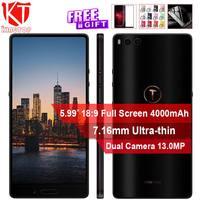 Оригинальный спасибо: гайки 3 4G мобильный телефон 4G B 32 GB/6 4G B Snapdragon 625 5,99 ''Dual сзади Camrea Быстрая зарядка 4000 mAh смартфон