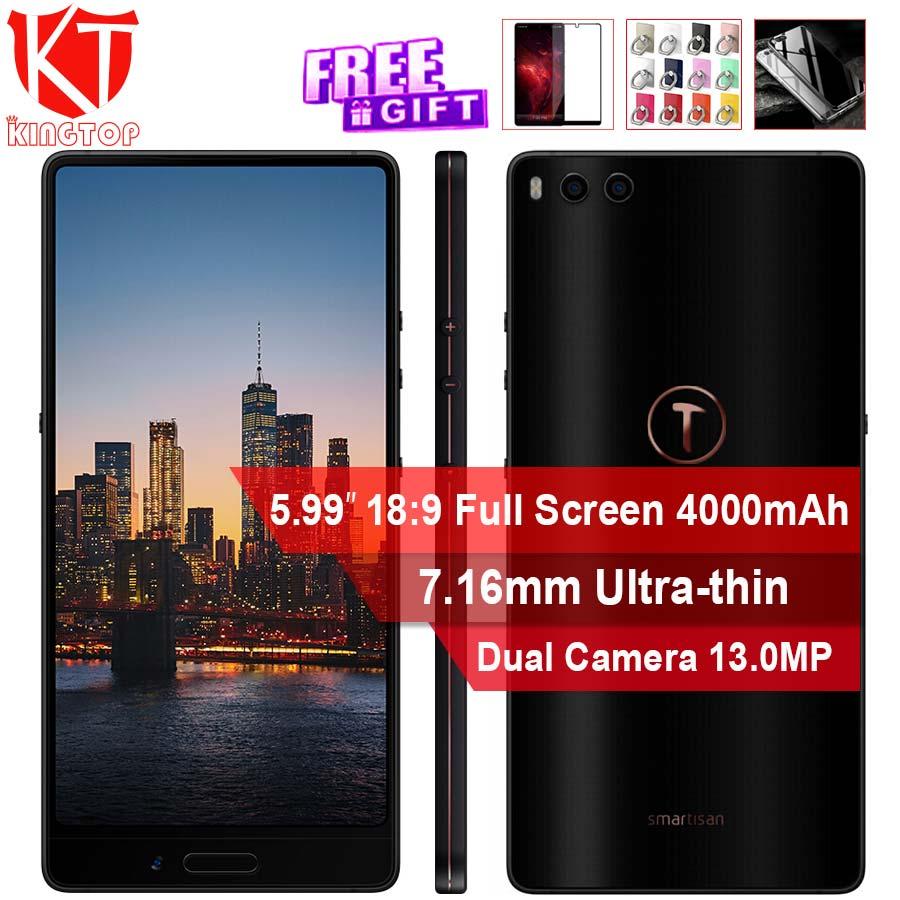 D'origine Smartisan Écrou 3 4g Mobile Téléphone 4 gb 32 gb/64 gb Snapdragon 625 5.99 ''Double arrière Camrea charge Rapide 4000 mah téléphone intelligent