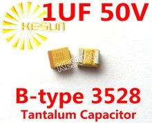 1 МКФ 50 В B тип 1210 3528 105 Т SMD Тантал Конденсатор Разъем TAJB105K050RNJ x500PCS