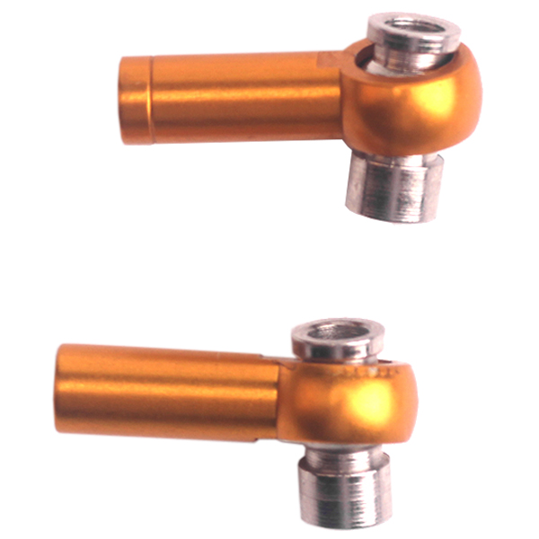 HOT SALE M3 3mm Thread 18mm Length Link Rod End Ball Joint Ball Head Holder Tie rod end, Ball Link for RC car 2pcs Alloy alumi