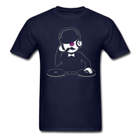 Hipster DJ Men T Shirts Concert Styles Pink Tees For Youth Natural Cotton Korean Style T