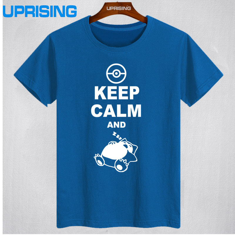 2017-new-fashion-classic-style-keep-calm-and-carry-on-snorlax-sleep-on-font-b-pokemon-b-font-t-shirt-casual-music-rock-n-roll-band-t-shirt