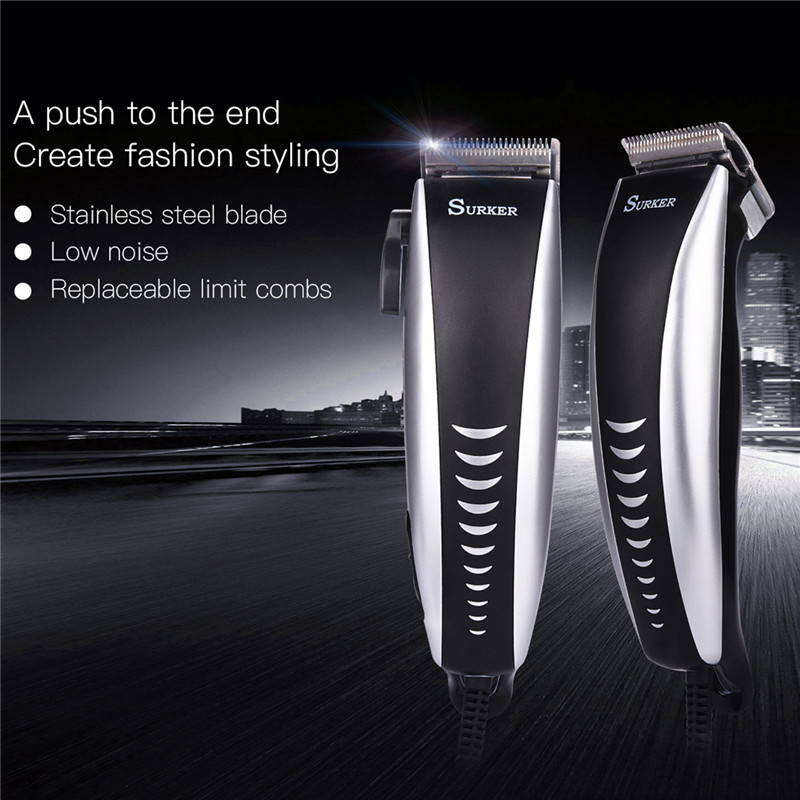 Professional Electric Hair Clipper Men's Hair Trimmer Barber Home Beard Hair Cutting Machine Hairclipper + 4 limit combs S45 rechargeable hair trimmer kits trimer clipper hair cutting machine grooming cutter for adult men with limit combs 3 types blades