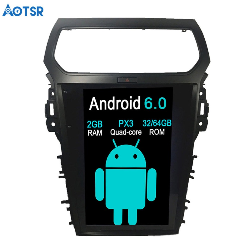 Aotsr Android 6.0 Car DVD Player GPS Navigation For Ford Explorer 2011 2012 2013 2015 2016 car stereo multimedia audio