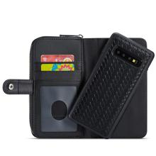 Woven Zipper Pouch Case for Samsung S10 S10e S9 Note9 Good Quality Leather Card Slots Purse Case for iPhone X Xs Xr 6 7 8 Plus hat prince high quality protective case w stand and card slots for 4 7 iphone 6 black