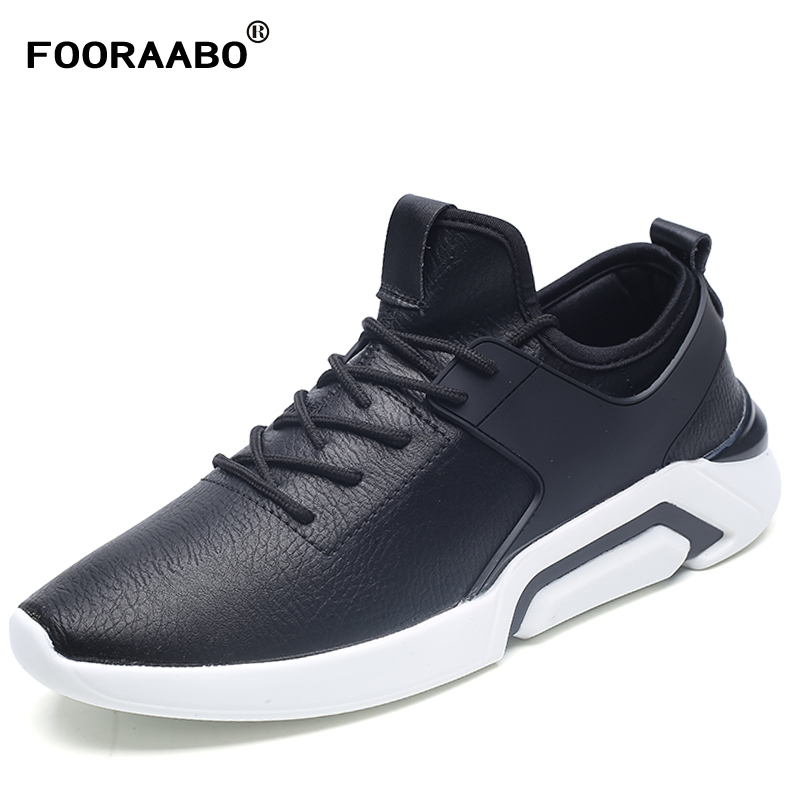 Men's Leather Casual Shoes Classic Fashion Male Lace up Flats Black White Men Krasovki Flat Heel Sneakers tenis masculino cirohuner leather casual men shoes male lace up flats black men krasovki flat heel sneakers tenis masculino comfortable shoes
