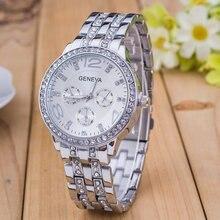 Relojes HOMBRE Женева Марка Роскошные модные золотые мужские часы женские Кристалл платье кварцевые наручные часы Relogio feminino