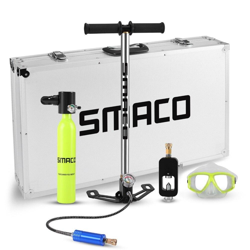 Smaco Mini scuba diving attrezzature serbatoio totale libertà di respiro sott'acqua per 5 a 10 minuti