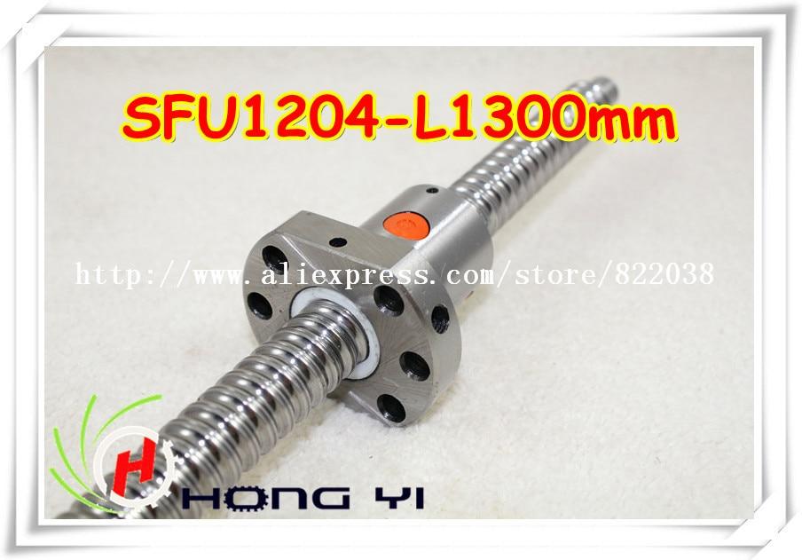 1pcs SFU1204 - L1300mm Ball screw + 1pcs Ballscrew Ballnut and BK/BF10 standard processing 1pcs sfu1204 l1500mm ball screw 1pcs ballscrew ballnut and bk bf10 standard processing