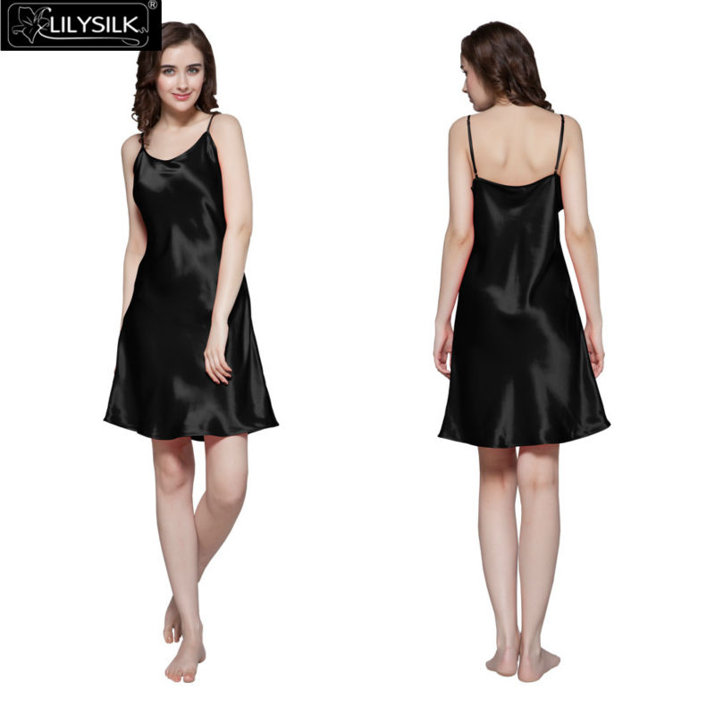 1000-black-22-momme-short-feminine-silk-nightgown