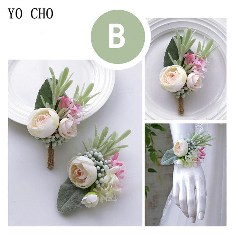 wedding accessories wrist corsage bracelet  boutonniere  (4)