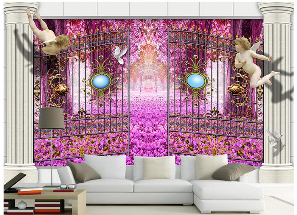 3d name wallpapers custom 3d wallpaper Garden little angel Roman ...