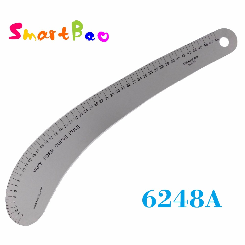 Aluminum Garment Curve Ruler 48cm Metal VARY FORM SEWING RULER; # 6248A