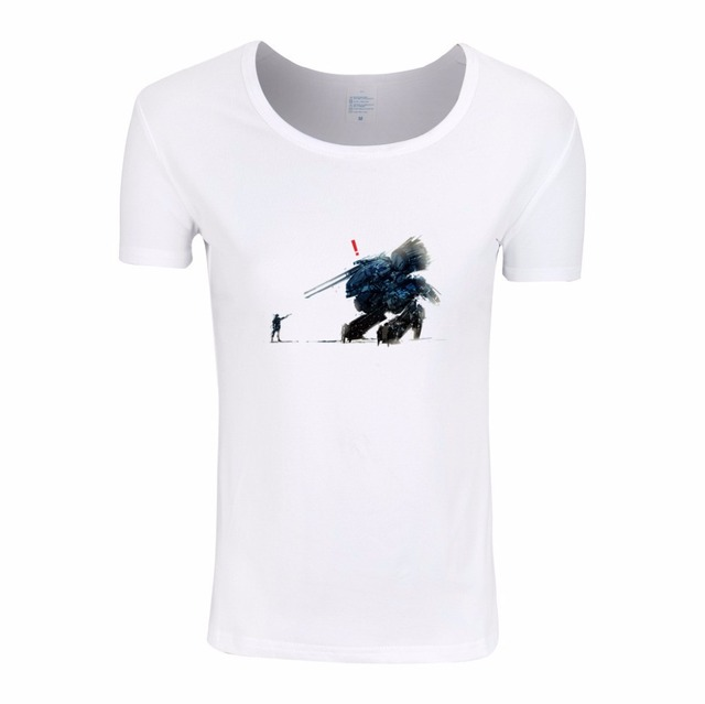 3e6a3ac157648 2017 Women print Metal Gear Solid MGS snake fox hound White T-shirt Short  sleeve O-Neck Camisetas Hipster T-shirt HWP374