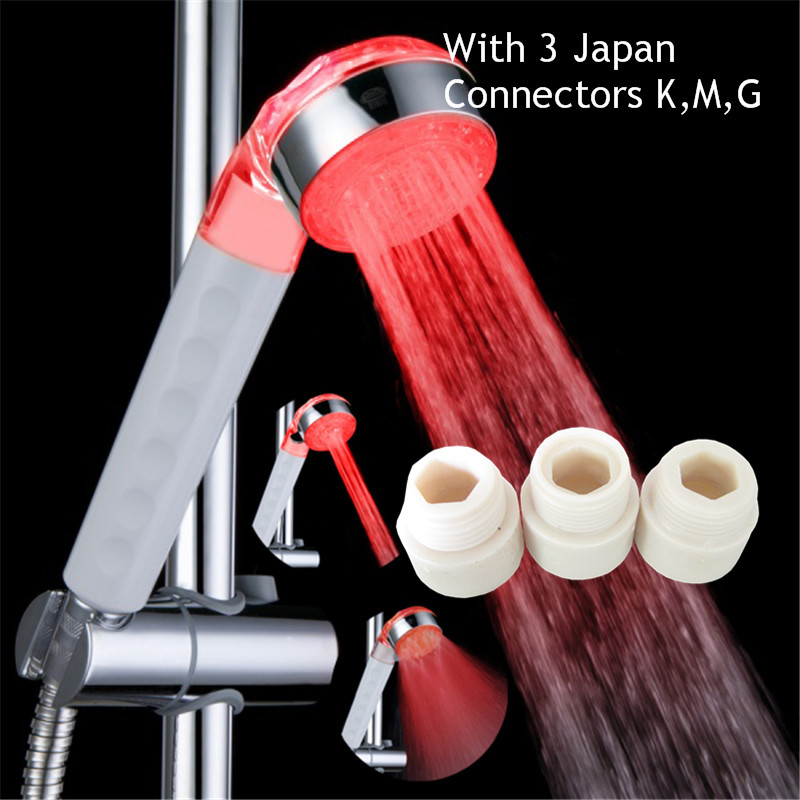 Single Red Color Energy saving shower heads , Japanese quality luxury shower heads for high income families