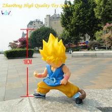 Anime figure DRAGON BALL PVC Action figure Super Saiyan Son Goku 18 cm Collection Model Kids Toys RETAIL BOX FB261