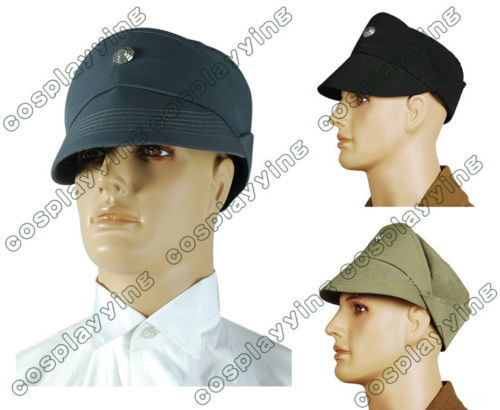 Star wars Imperial Officer Cosplay Costume Men's Cap Hat Black Grey Olive in 3 Colors Free Shipping usbftvc6g [usb a plug cap olive metallic]