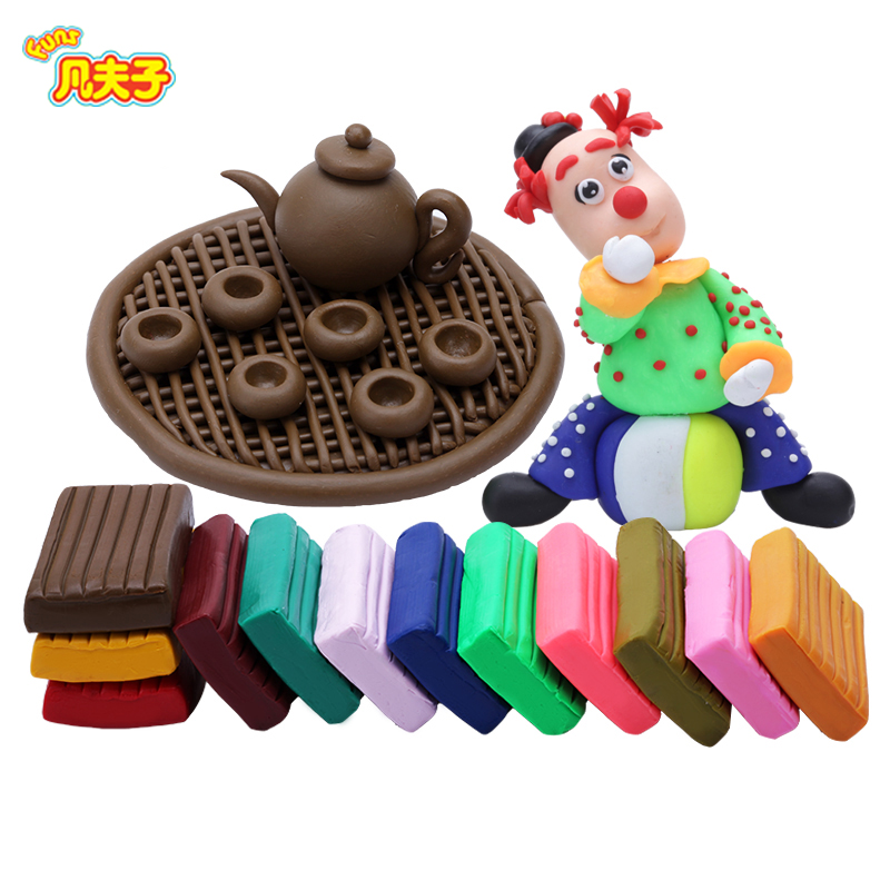 24 colors a set polymer clay DIY plasticine handmade modeling toy in the microwave oven to dry safe non-toxic