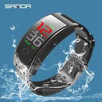2019 New Sanda Smart Men's Bracelet Watches Touch Sleep Monitoring Health Sports Men Watch Bluetooth Pedometer Erkek Kol Saati