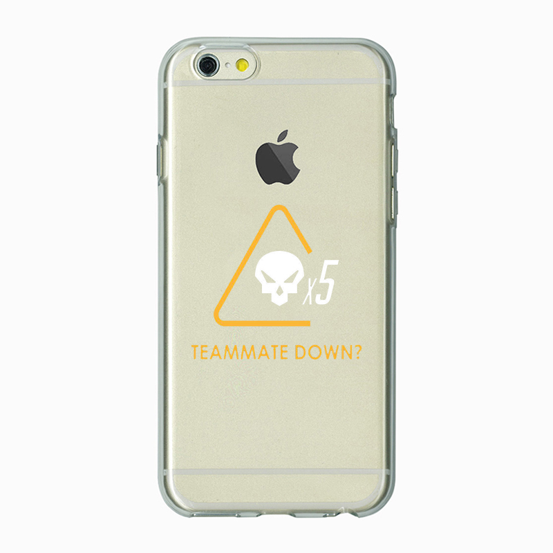 Teammate down iphone case