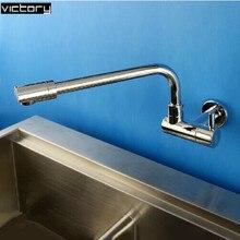 wall kitchen sink faucet Copper wall mounted kitchen taps single cold sink tap single cold water tap Torneira de Cozinha