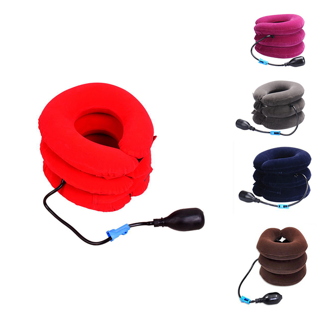 Inflatable Tractor for Neck Ache Relaxation Medical Cushion Neck Traction Therapy Cervical Vertebra Collar Orthopedics Home Care