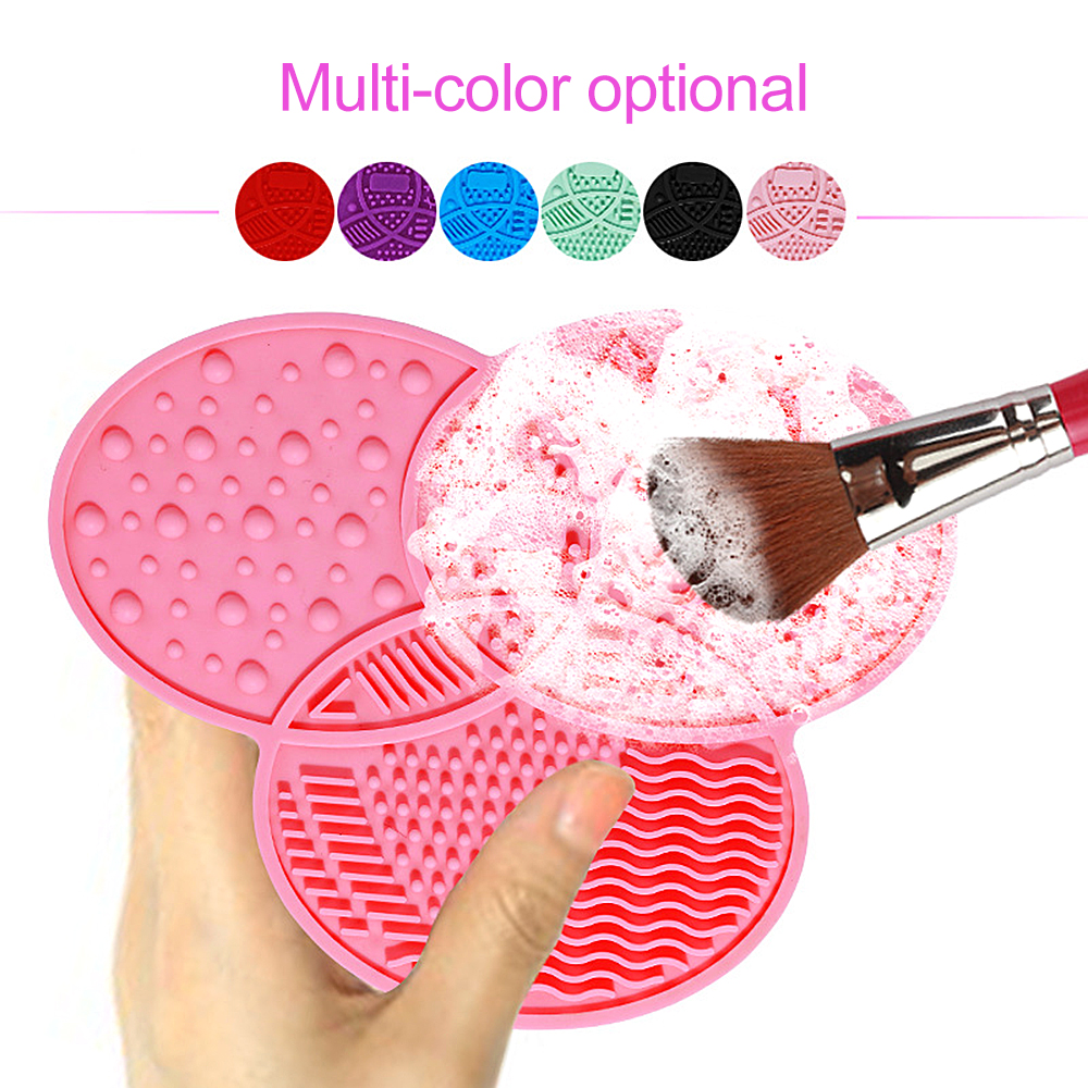 High Quality Makeup Brushes Washing Cosmetic Remove Tool Make Up Brush Cleaner Silicone Cleaning Mat Pad With Sucker Scrubber