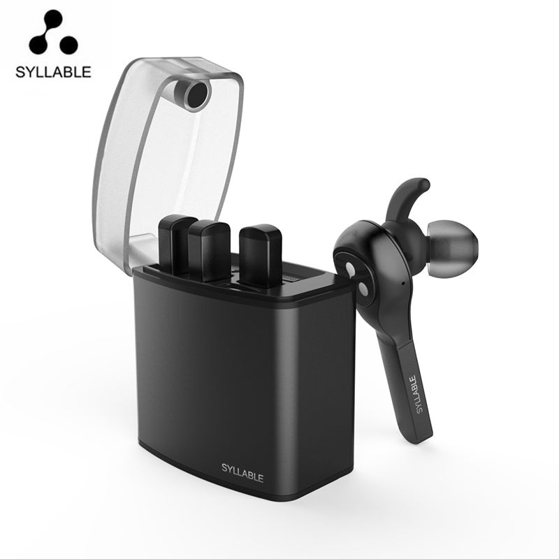 Latest Syllable 9X TWS Detachable Battery Wireless Bluetooth V4 2 Earphone Portable Lighter Charge Case Bluetooth