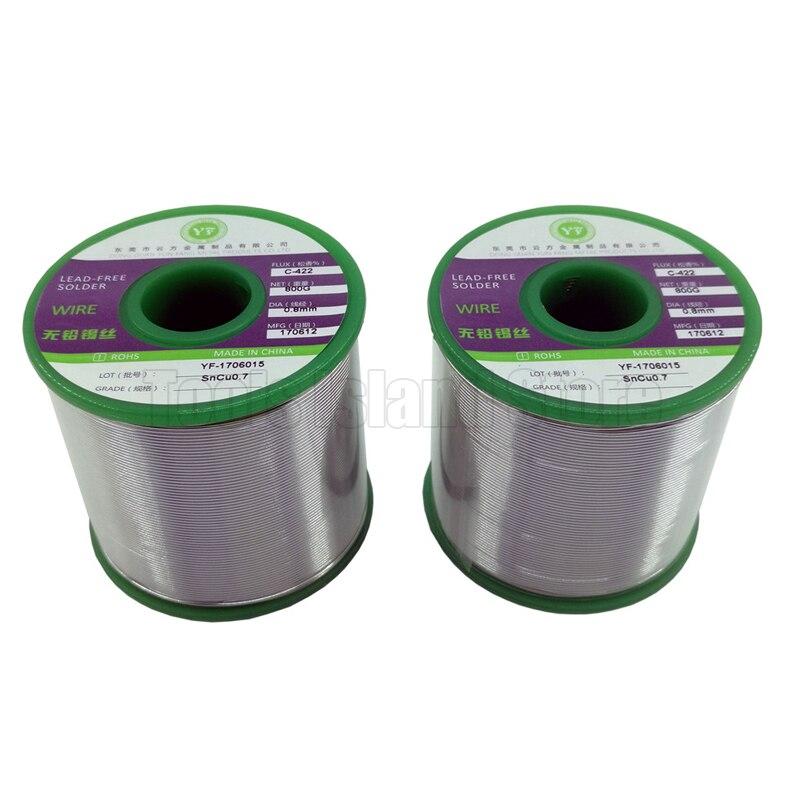 1 kg Senza Piombo Saldatura A Filo Salute Sn: 99% Ag: 0.3% Cu: 0.7% Tin Wire Melt Colofonia Core contenenti argento saldatura a filo