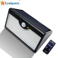 LumiParty Solar Powered 60 LEDs Solar Light Waterproof Remote Control LED Garden Solar Lamp Wall Light