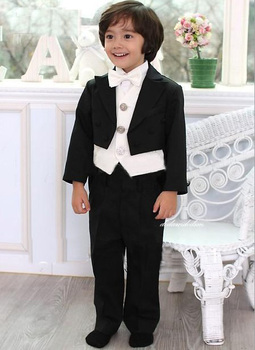 Top sell/Free shipping/Custom made Kid Clothing New Style Complete Designer Boy Wedding Suit/Boys' Attire(Jacket+Pants+Tie+Vest) фото
