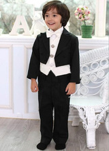 Top sell/Free shipping/Custom made Kid Clothing New Style Complete Designer Boy Wedding Suit/Boys' Attire(Jacket+Pants+Tie+Vest)