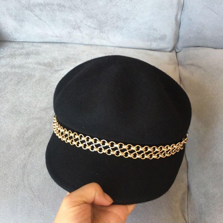 Laine, bouchon octogonal double chaîne en métal chapeau