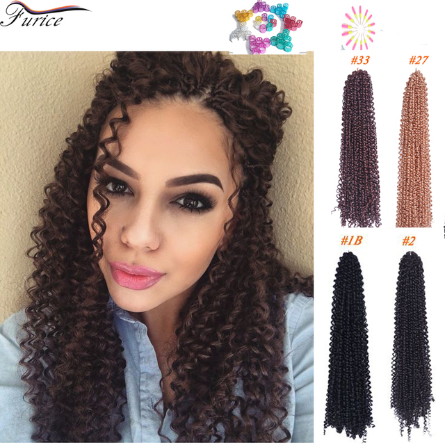 18 Inch Water Wave Hair Extension Freetress Deep Twist Freetress