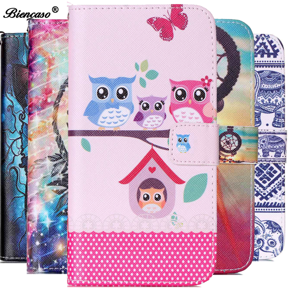 Elephant Owl Pattern <font><b>Wallet</b></font> Flip Phone <font><b>Case</b></font> for <font><b>iPhone</b></font> 4 4S 5 <font><b>5S</b></font> SE 5C i6 6 6S 7 Plus 8Plus Cover For <font><b>iPhone</b></font> 8 Fundas B21 image