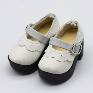 Image 5 - 1 para 1/4 BJD pu skórzane buty dla lalek dla małych 16 cali Sharon odzież dla lalek akcesoria zabawki 6.3*2.5cm