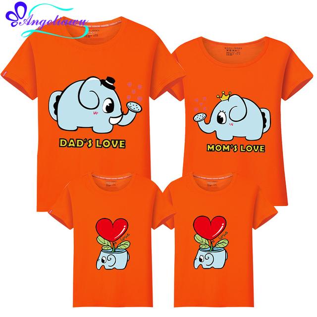 15 Color Short Sleeve Family T-Shirt Comics Elephant Family Madre E Hija