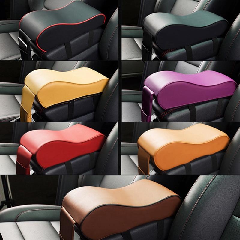 Car SUV Armrest Pad Cover Auto Center Console PU Leather Cushion Multi-function