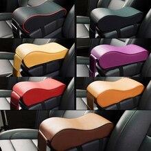 Универсальный кожаный автомобильные внедорожник подлокотник коробка Подушка Авто центральной консоли подлокотник сиденье поле Pad пены памяти Защитная поддерживает