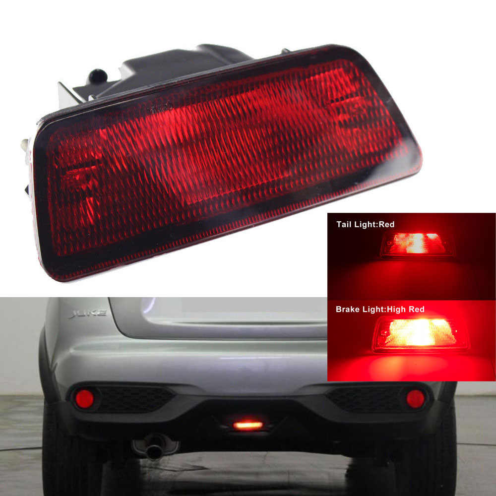 JDM Style Rear Fog Light Assy w/ LED Bulb, Wiring For Nissan