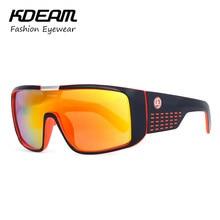cb8bcd7401 2018 Cool marca deporte de los hombres gafas UV400 Gafas de sol tamaño  grande deportes Sol Gafas kdeam viento Gafas 7 colores co.